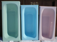 цвета акриловых вкладышей для ванны