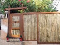 деревянный забор-штакетник