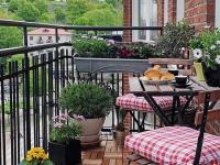 Пример оформления открытого балкона