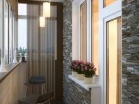 Строгий дизайн для  балкона