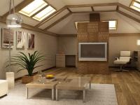 Просторная комната на мансарде