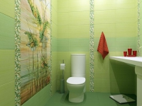 Живописное панно на стене санузла