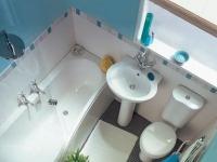 Пример расположения сантехники в маленьком санузле