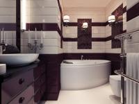 Встроенная мебель в дизайне санузла