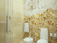 Художественное оформление стены совмещенного санузла
