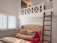 Идея для двухэтажной мансардной спальни