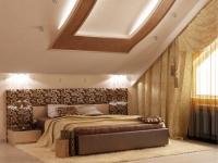 Дизайн спальни в мансардном помещении