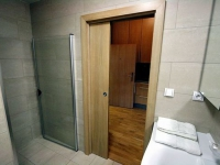 Раздвижная дверь с фальш стеной в санузел