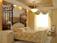 Художественный навесной потолок для классического стиля спальни