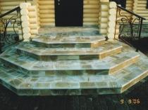 Дизайн каменной лестницы крыльца