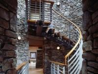 Лестница на мансарду с перилами