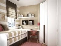 Грамотная планировка малогабаритной спальни с рабочим уголком