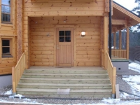 Бетонное крыльцо для деревянного дома
