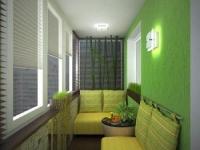 Вариант размещение диванов на балконе
