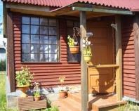 деревянный козырек над входом