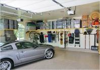 удобные стеллажи в гараже