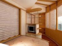 Просторную лоджию можно обустроить, как полноценную комнату