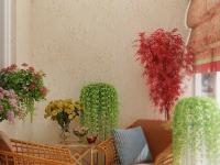 Даже искусственные растения могут сделать ваш балкон особенным