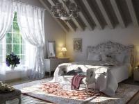 Уютная мансарда в стиле прованс