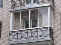 Сварная конструкция для ограждения балкона