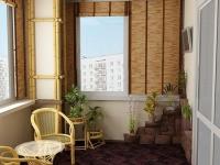 Дизайн лоджии с плетеной мебелью