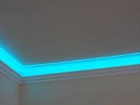 Диодная подсветка полиуретанового плинтуса