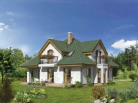 Проект со сложной мансардной крышей