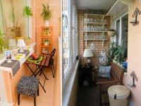 Оформление зоны отдыха на маленьком балконе