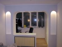 Присоединенный балкон может быть использован в качестве кабинета
