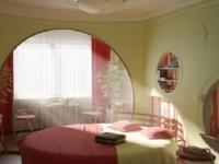 Оригинальный дизайн спальни, присоединенной к балкону