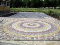 радиусный узор укладки тротуарной плитки