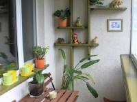 Оформление полок для цветов на балконе