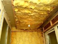 Утепление потолка и стен балкона минеральной ватой